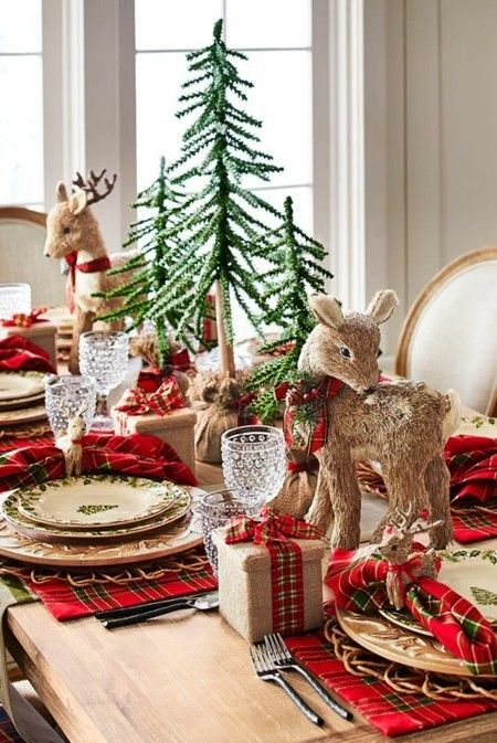 tischdeko-rustikal-ideen-weihnachtsschmuck