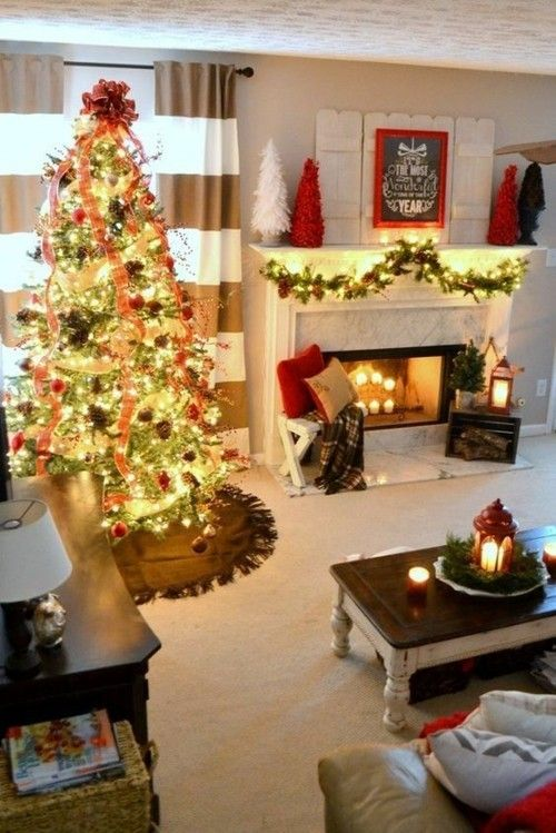 x-mas-dekoration-wohnzimmer-weihnachtsbaum-glitzer-stumpfkerzen-kamin-kaminsims