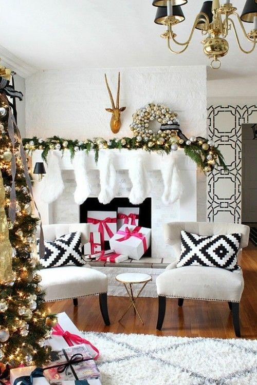 X Mas Dekoration Wohnzimmer Weihnachtsgeschenke Kaminsims