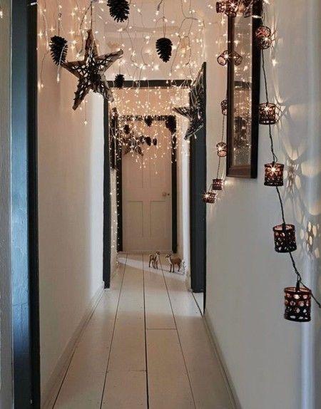 deko-ideen-winter-weihnachten-flur-lampen-weihnachtsschmuck