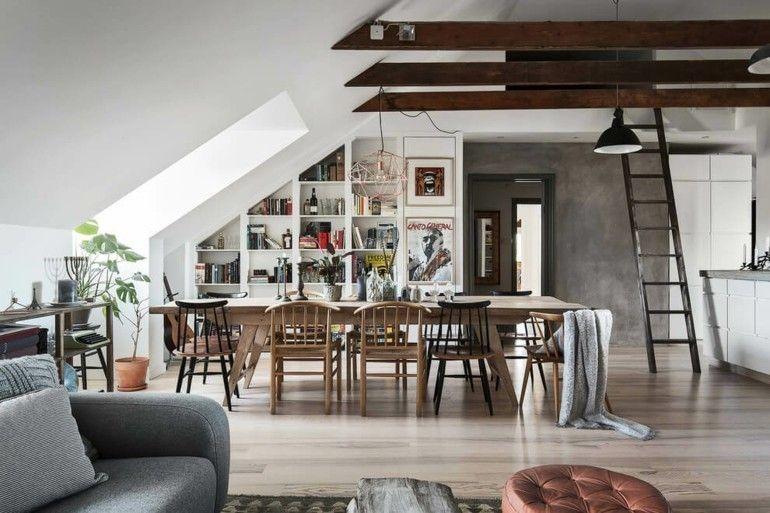 kuche moderne dachwohnung wohnungsgestaltung - Gestaltung Dachwohnung