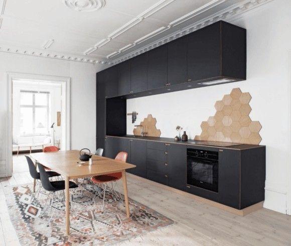 Küche Schwarz Holz