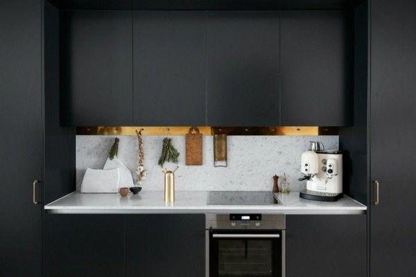 kuchenideen-schwarze-mobel