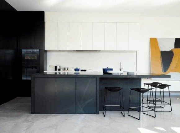 kucheninsel-schwarz-moderne-kuchen-bilder