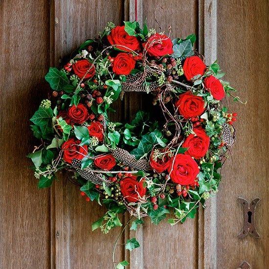 rosa-bastelideen-weihnachten-schon-tur