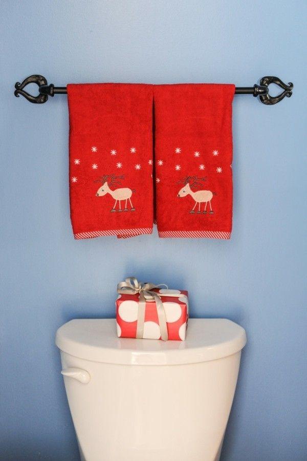 toilette-weihnachtsdeko-rote