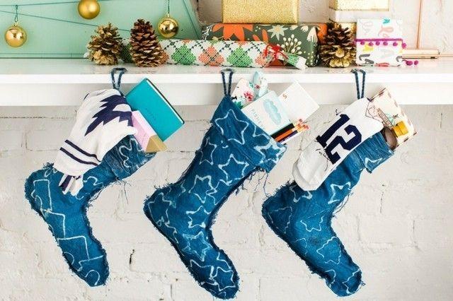 weihnachtsstrumpf-marineblau
