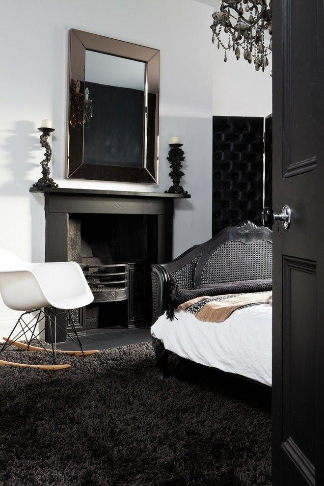 interior-design-schlafzimmer-ideen-schwarz-weis