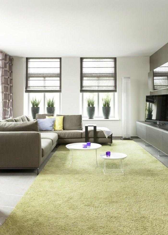 Wohnzimmer Gestalten Teppich Couchtisch