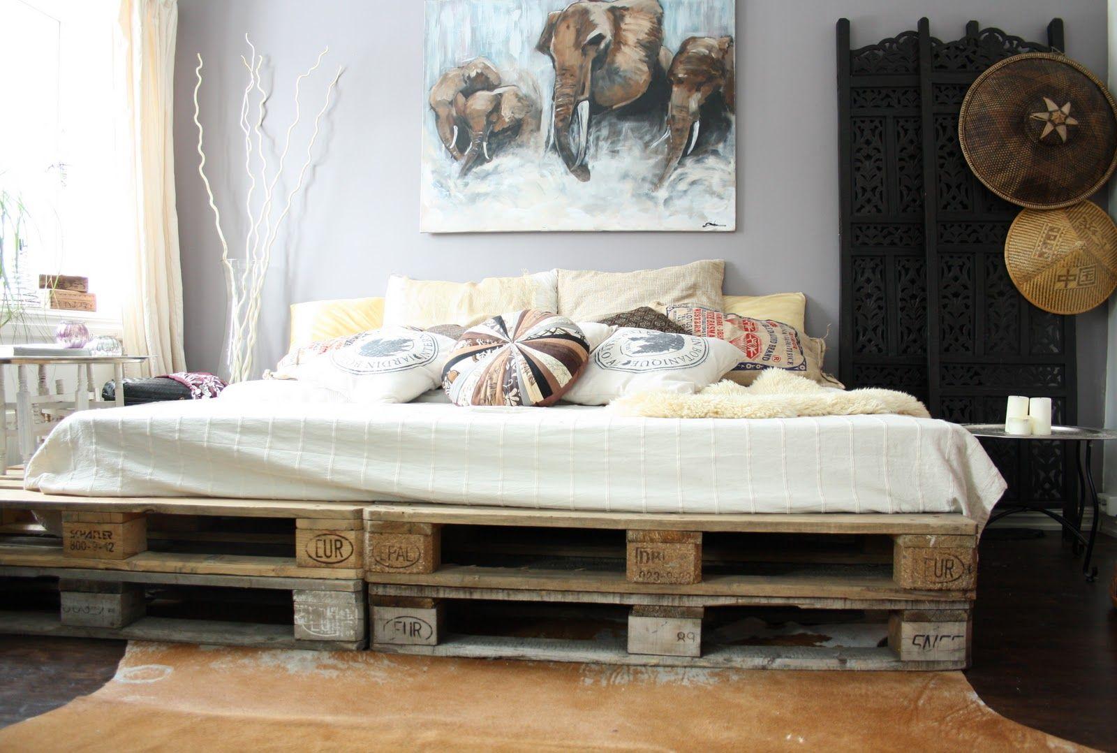 Bett aus Paletten – eine praktische DIY Idee für umweltbewusste ...