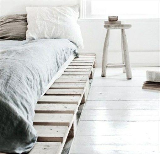 DIY Ideen Bett aus Paletten