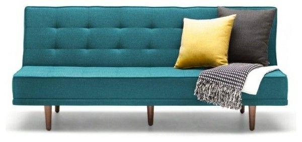 Modernes Schlafsofa trendiges Design Multifunktionalität Petroleumblau