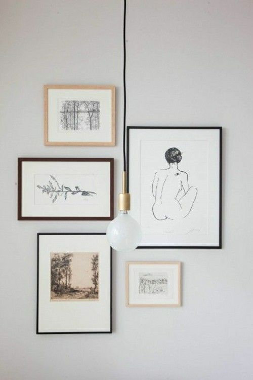 Fotowand Gestaltung mit schwarz-weißen Fotos-Fotowand Ideen