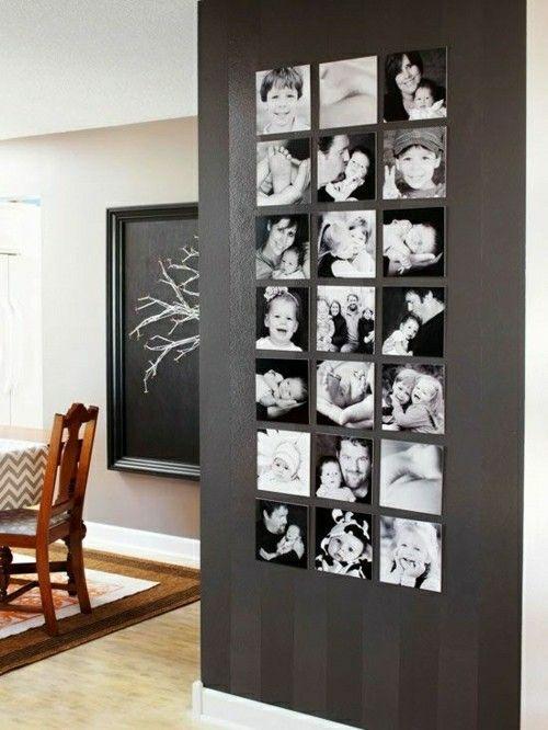 Fotowand-Ideen-esszimmer-Fotowand Ideen