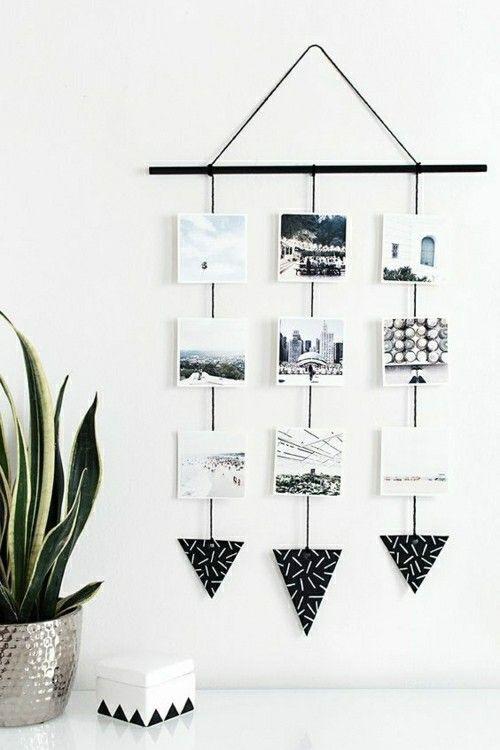 Fotowand-Ideen-schwarz-weiße-Fotowand Ideen
