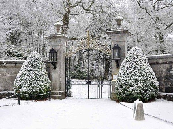Gartengestaltung Ideen Garten im Winter