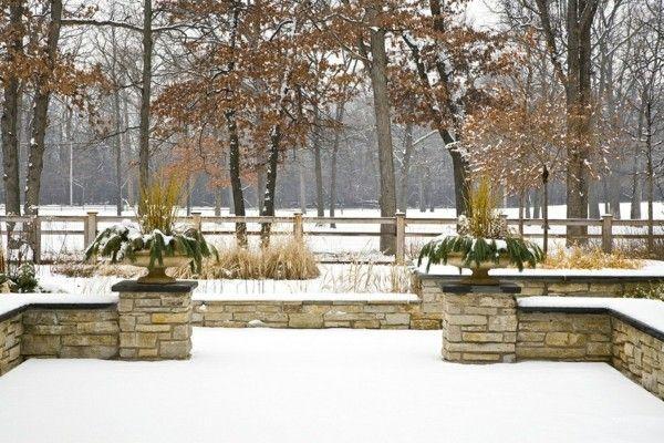 Gartengestaltung Ideen winterliche Schönheit im Garten