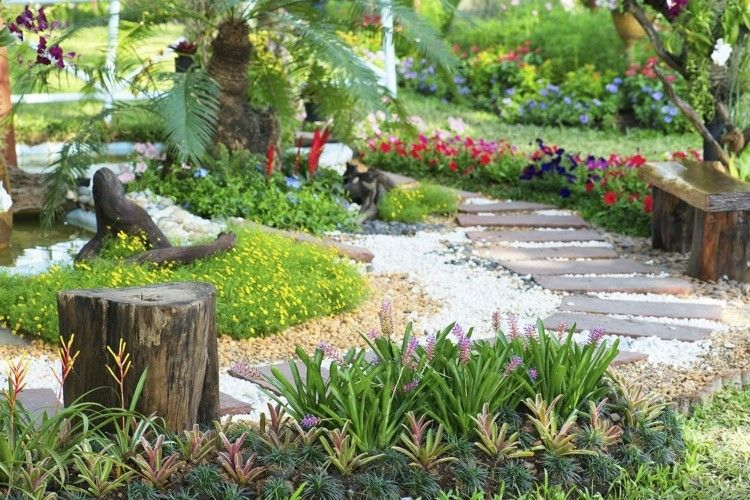 Gartenwege gestalten anlegen schöne Natur