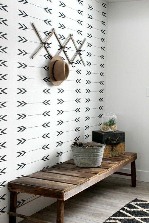 Geometrische Muster machen die Wand zum echten Hingucker!