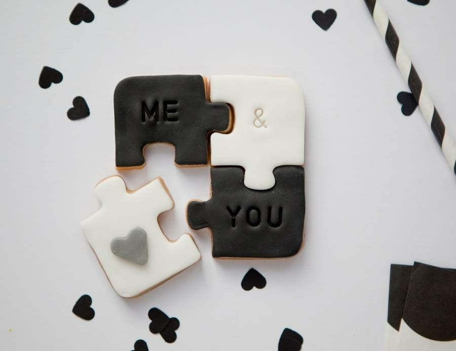 Geschenke tolle Idee Keksrätsel Valentinstag