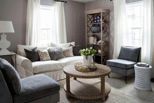 Grau weiß Wohnzimmergestaltung