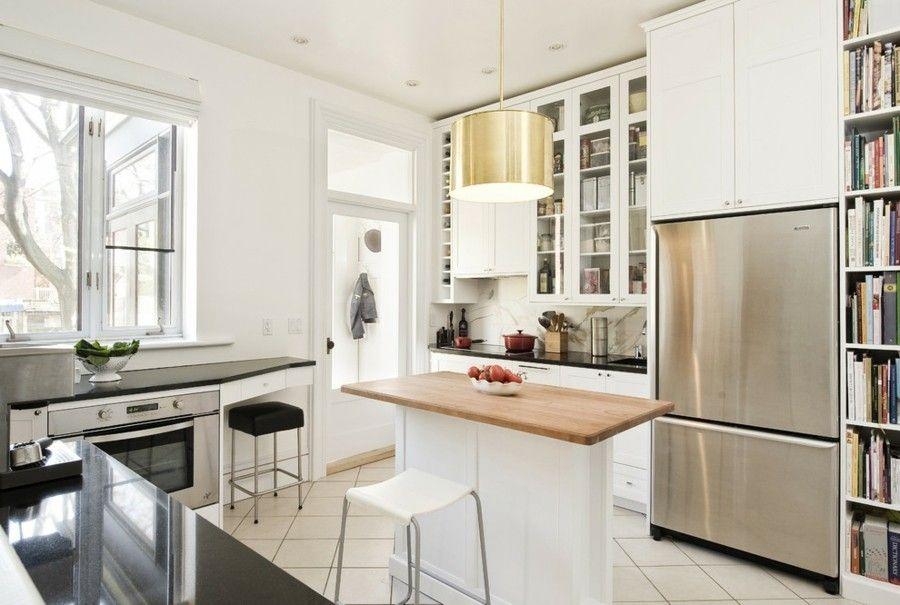 Die Kücheninsel wird dünner! Bilderbeispiele für schmale ...