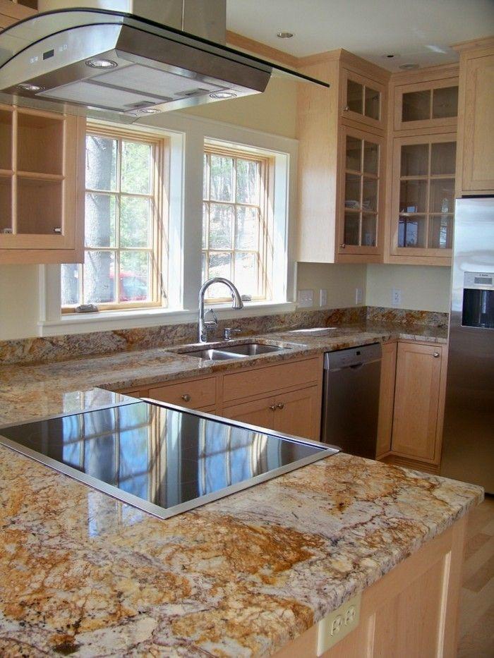 L-förmige Küche Arbeitsplatten aus Granit