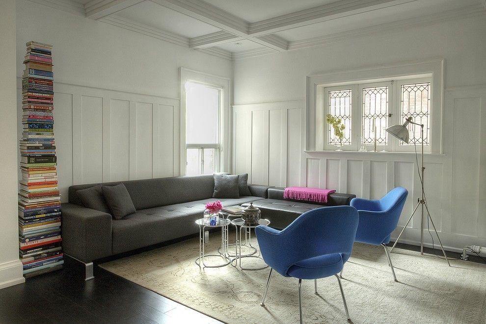 Moderne Wohnzimmer Idee in Schwarz-Weiß