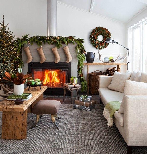 modernes-wohnzimmer-weihnachtsdekoration