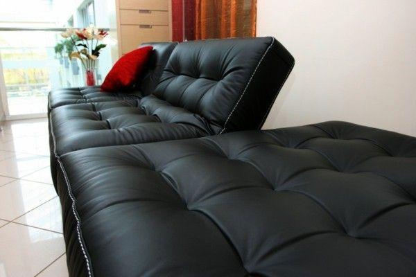 Schlafsofa modernes Design in Schwarz