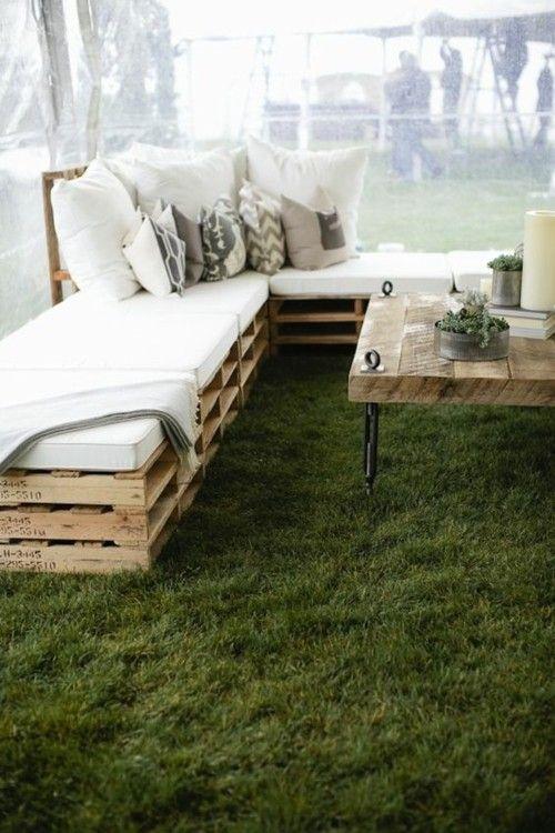 Sitzecke Gartenmöbel aus Paletten