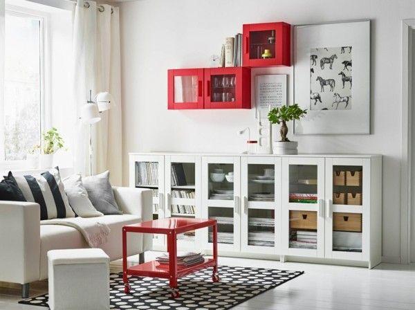 Wand Wohnzimmer Set Vitrine Schrank