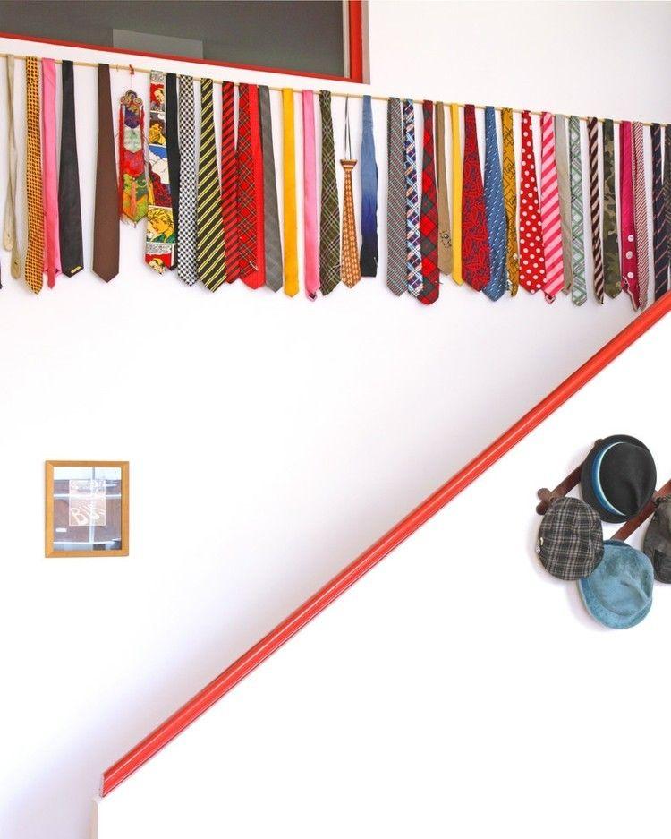 Wanddeko aus Krawatten