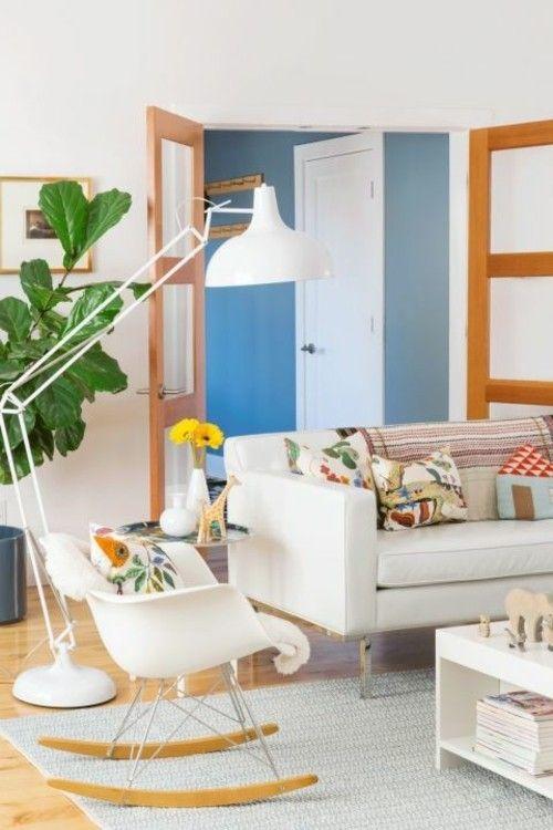 Wohnzimmer Einrichtung Klassiker in Weiß