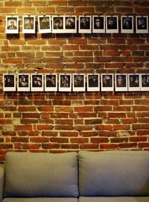 Zimmer im Industriellen Stil-Fotowand Ideen