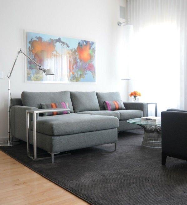 elegante Stehlampe modern wohnzimmerlampen ideen