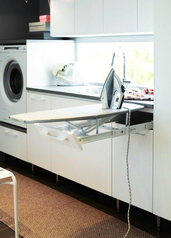 interessante einrichtung waschküche