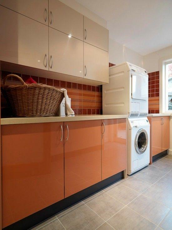 interessante waschküche-einrichtungsidee holz