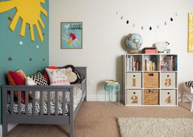 Kinderzimmer Gestalten Ideen Deko Grun Wandfarben