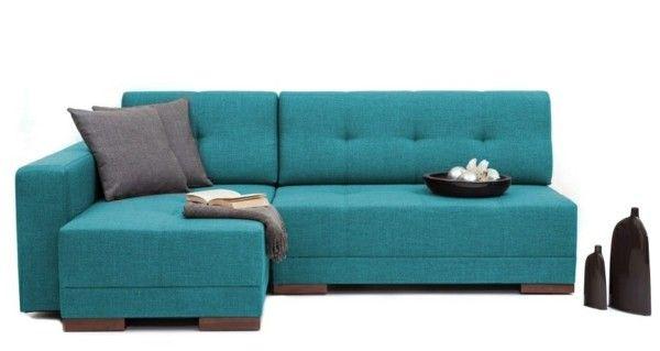 modernes Ecksofa Petroleumblau Vielfalt an Modellen Farben - Designs