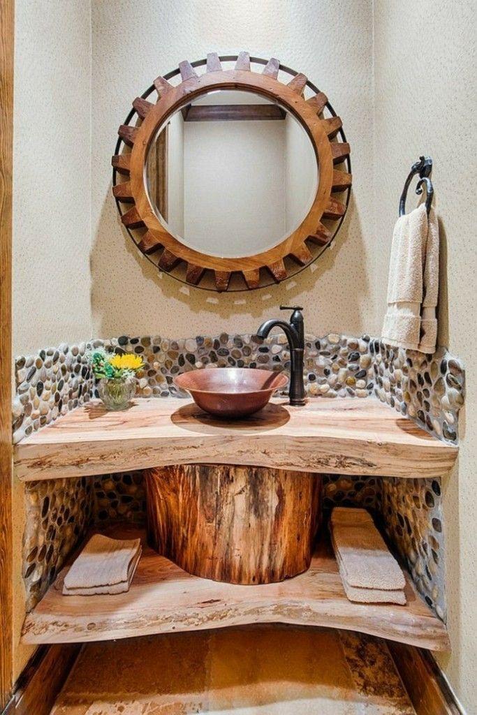 rustikale-badezimmer-waschtisch