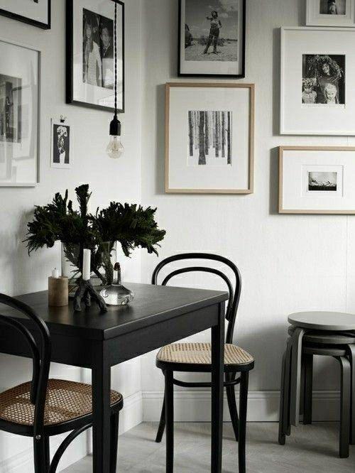 schwarz weiß Fotowand-Fotowand Ideen