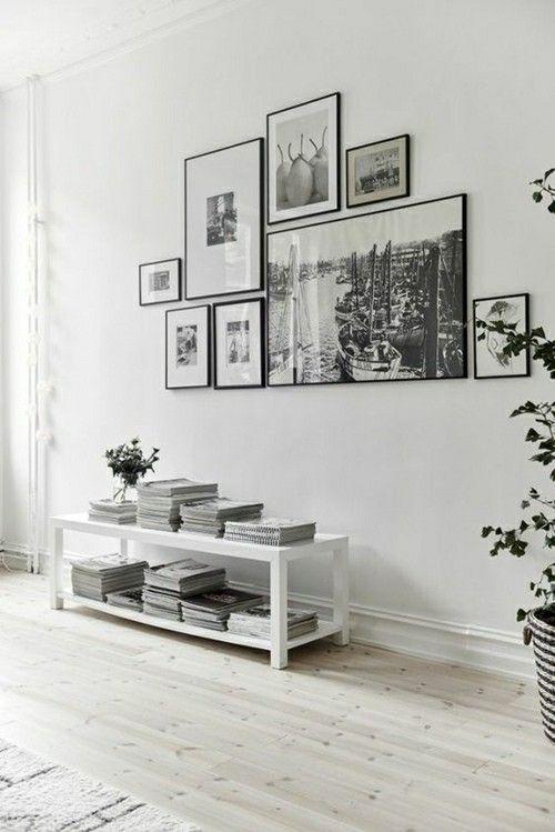 schwarz- weiße Fotos ein Interieur-Fotowand Ideen