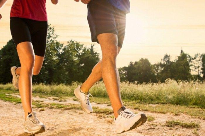 tägliches Jogging gute Kondition fördert die Gesundheit