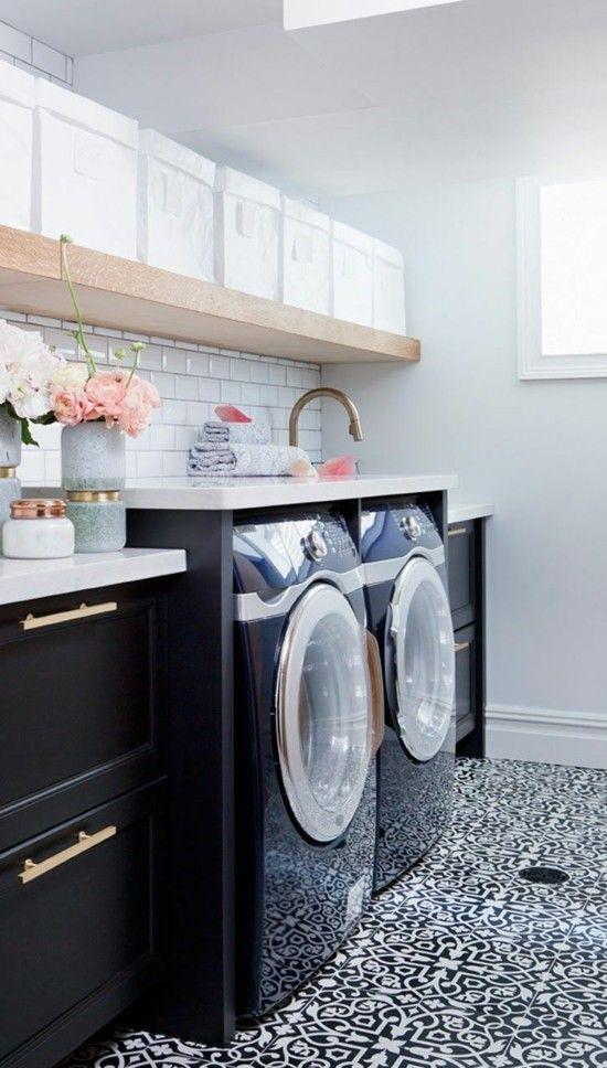 waschküche-einrichten-elegante ideen