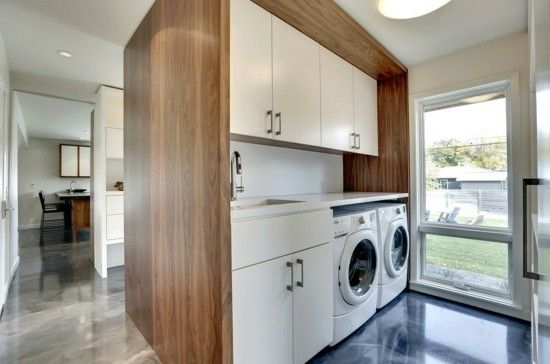 moderne waschküche - ist die praktische waschkücheneinrichtung, Kuchen dekoo