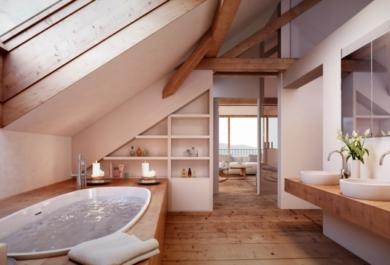 Badezimmer Auf Dem Dachboden U2013 Viel Ruhe Mit Einer Prise Luxus    Trendomat.com