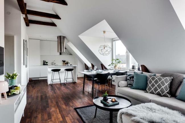 Wohnzimmer auf dem dachboden echtes symbol f r gem tlichkeit und stil - Olympo kamin set fur das wohnzimmer ...