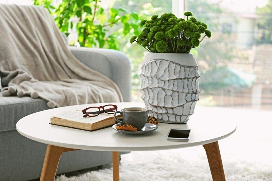 Grüne Zimmerpflanzen-Wohnzimmer Ideen