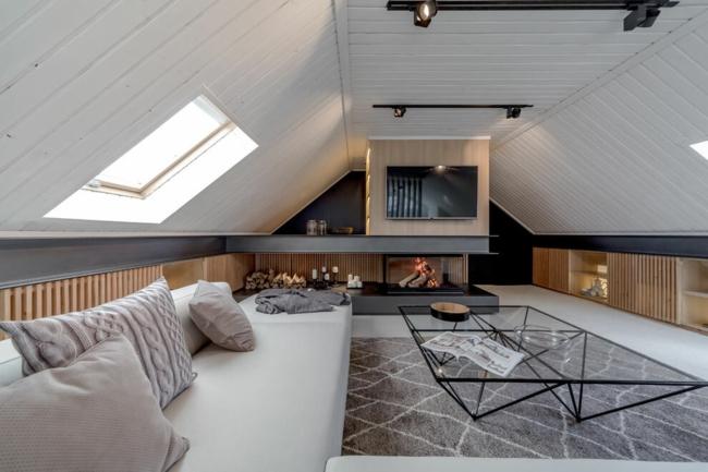 Wohnzimmer Auf Dem Dachboden Echtes Symbol Fr Gemtlichkeit Und